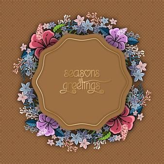 Szablon kwiatowy karty ślubu