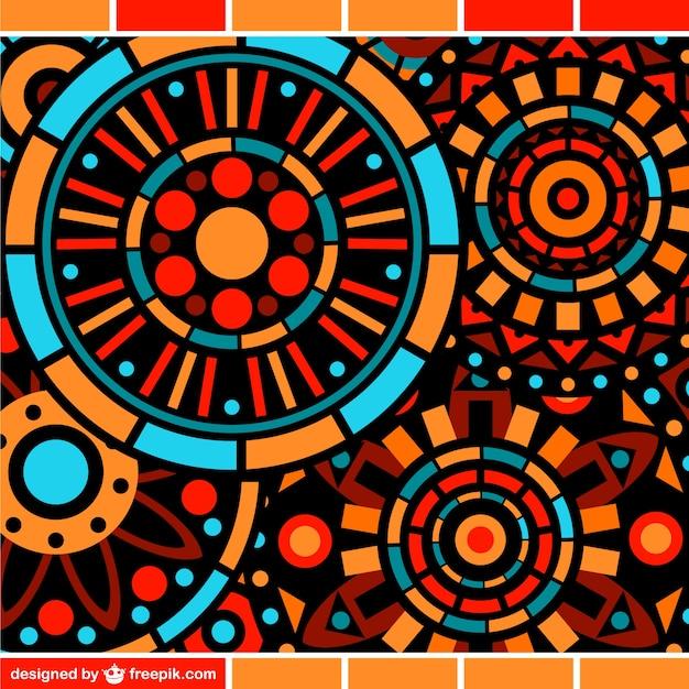 Szablon kwiatowy mozaika