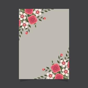 Szablon kwiatowy zaproszenie z różami