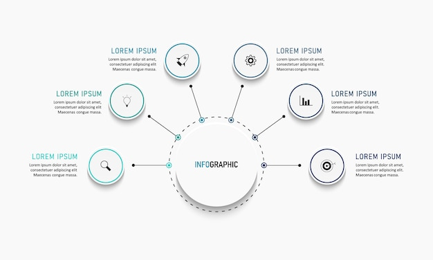 Szablon liczby opcji nowoczesny infografiki. ilustracja. może być używany do układu przepływu pracy, diagramu, opcji kroków biznesowych, banera, projektowania stron internetowych.