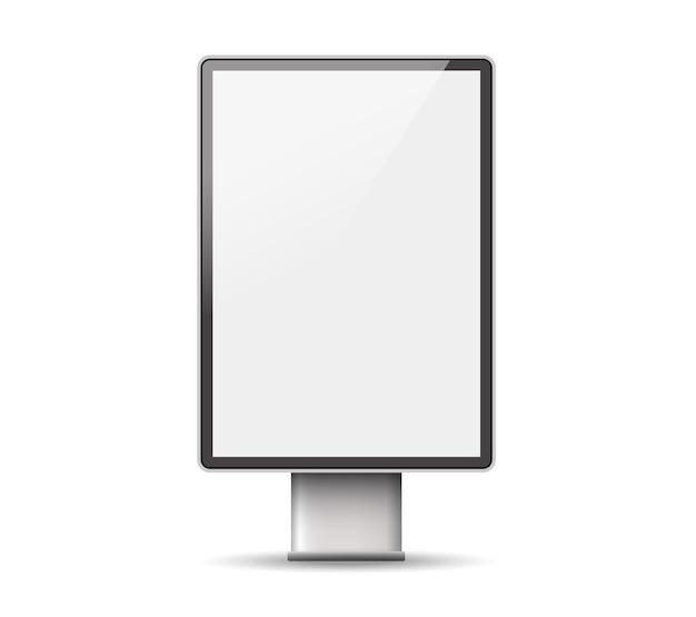 Szablon light box. zewnętrzne billboardy oświetlenia detalicznego 3d.