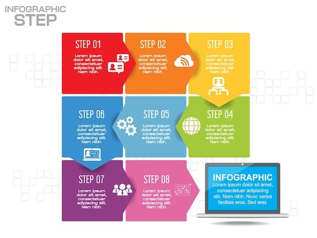 Szablon linii czasu infografikę biznesową
