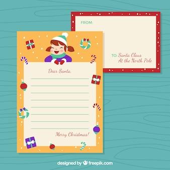 Szablon listu do santa z dziewczyną