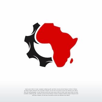 Szablon logo afryki gear