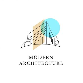 Szablon logo architekta.