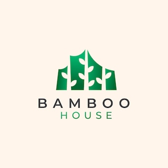 Szablon logo bamboo house
