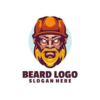 Szablon logo beard jest oparty na wektorach. są w pełni edytowalne i skalowalne bez utraty rozdzielczości.