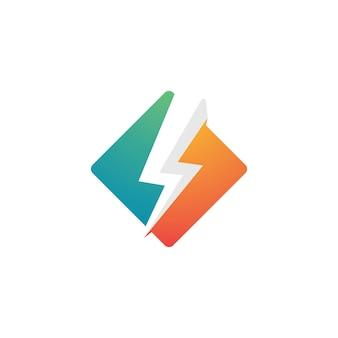 Szablon logo błyskawicy