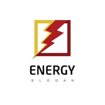 Szablon logo bolt energy