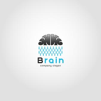 Szablon logo brain rain