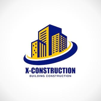 Szablon logo budowy budynku