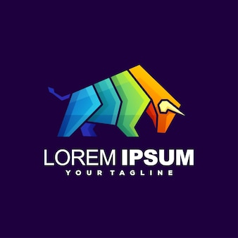 Szablon logo byka gradientu