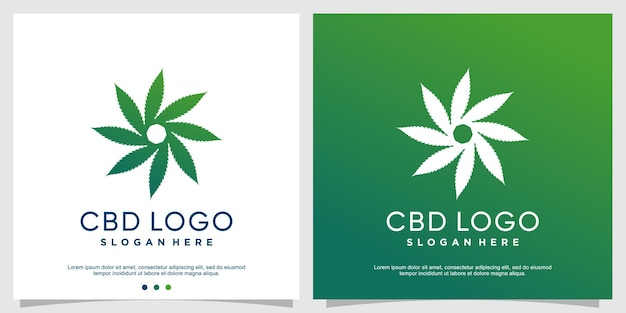 Szablon logo cbd premium wektor