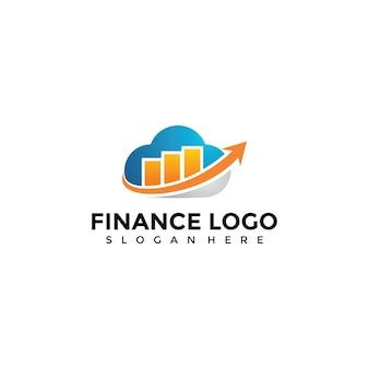 Szablon logo chmury finansów