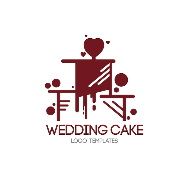 Szablon logo ciasto