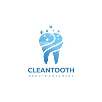 Szablon logo clean tooth