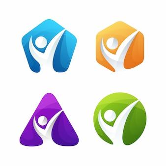 Szablon logo coachingu życia