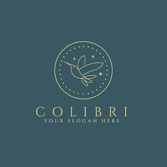 Szablon logo colibri bird