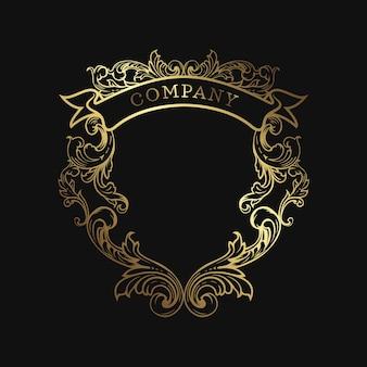 Szablon logo crest elegancki butik z godłem