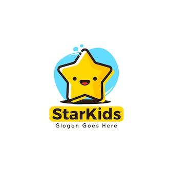 Szablon logo cute maskotka szablon dla dzieci