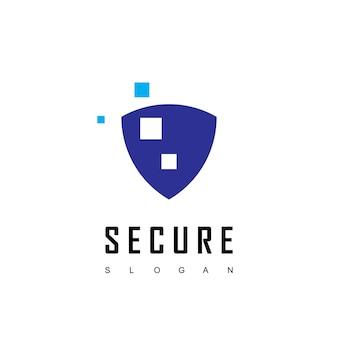 Szablon logo cyber secure