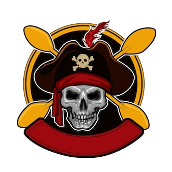 Szablon logo czaszki kajaka