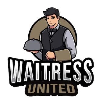 Szablon logo człowiek malarz