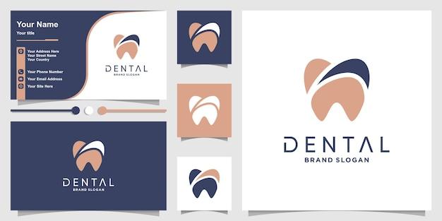 Szablon logo dentysty w nowoczesnym unikalnym stylu premium wektor