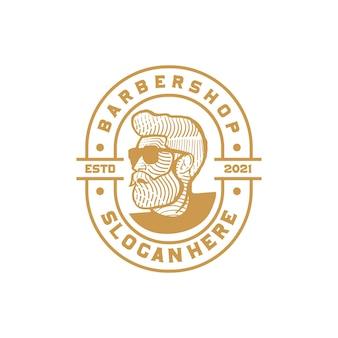 Szablon logo dla zakładów fryzjerskich
