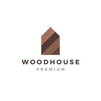 Szablon logo dom z drewna