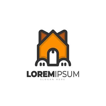 Szablon logo domu dla zwierząt