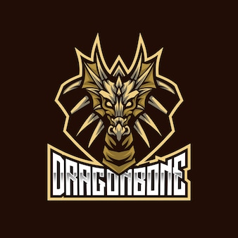 Szablon logo dragon bone esport