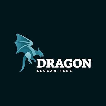 Szablon logo dragon gradient colorful style