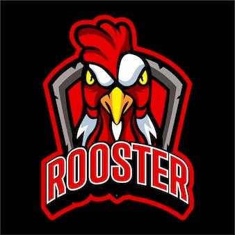 Szablon logo drużyny kurczaka esports