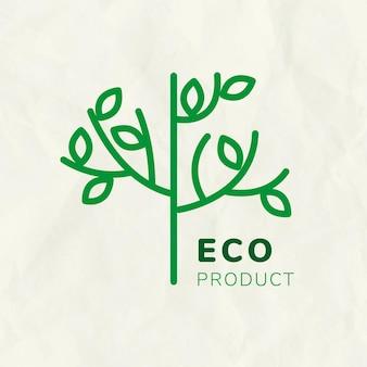 Szablon logo drzewa linii do znakowania z tekstem