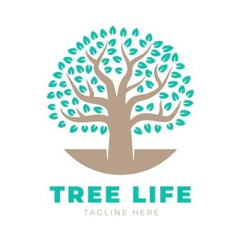 Szablon logo drzewa życia z hasłem