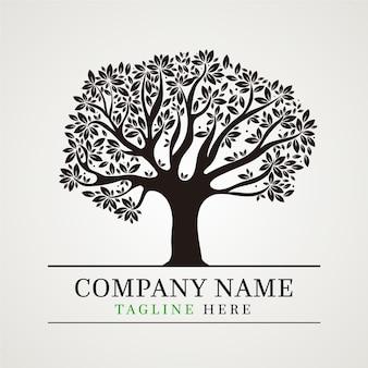 Szablon logo drzewa życia
