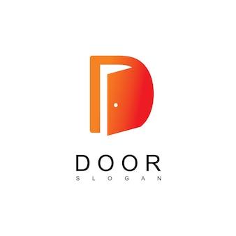 Szablon logo drzwi litera d