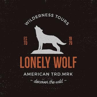 Szablon logo dzikich zwierząt