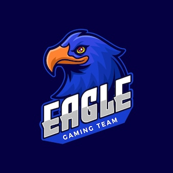 Szablon logo e-sport blue eagle