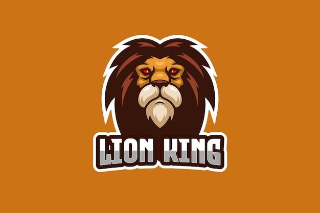 Szablon logo e-sport król lew