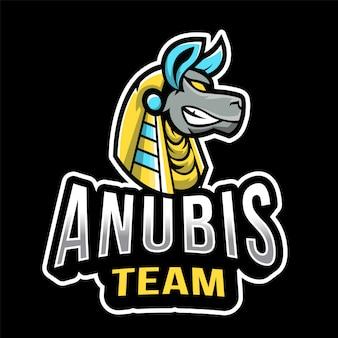Szablon logo e-sportu zespołu anubis