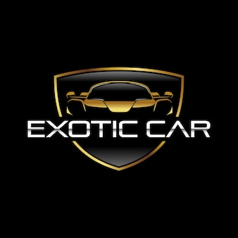 Szablon logo egzotycznego samochodu