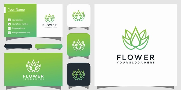 Szablon logo elegancki kwiat lotosu