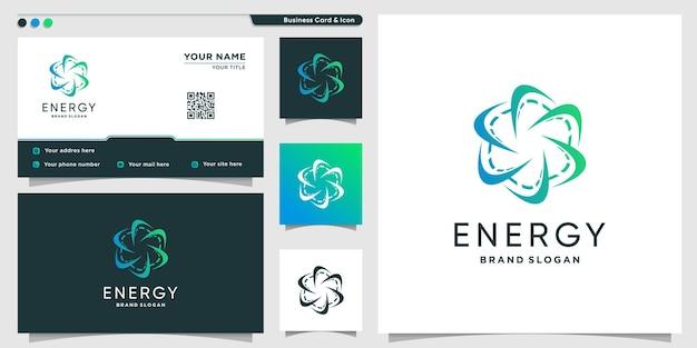 Szablon logo energii z nowoczesną koncepcją kreatywną premium wektor