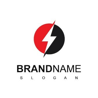Szablon logo energy bolt energy