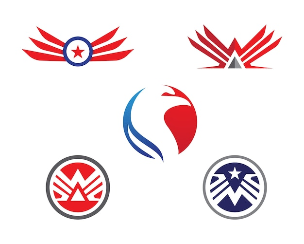 Szablon logo falcon wing