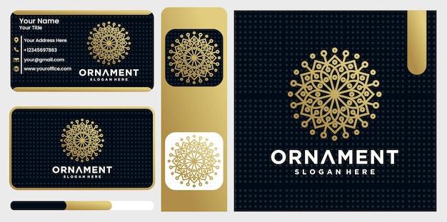 Szablon logo fantazyjny kwiatowy monogram