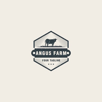 Szablon logo farmy angus