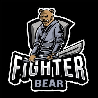 Szablon logo fighter bear esport